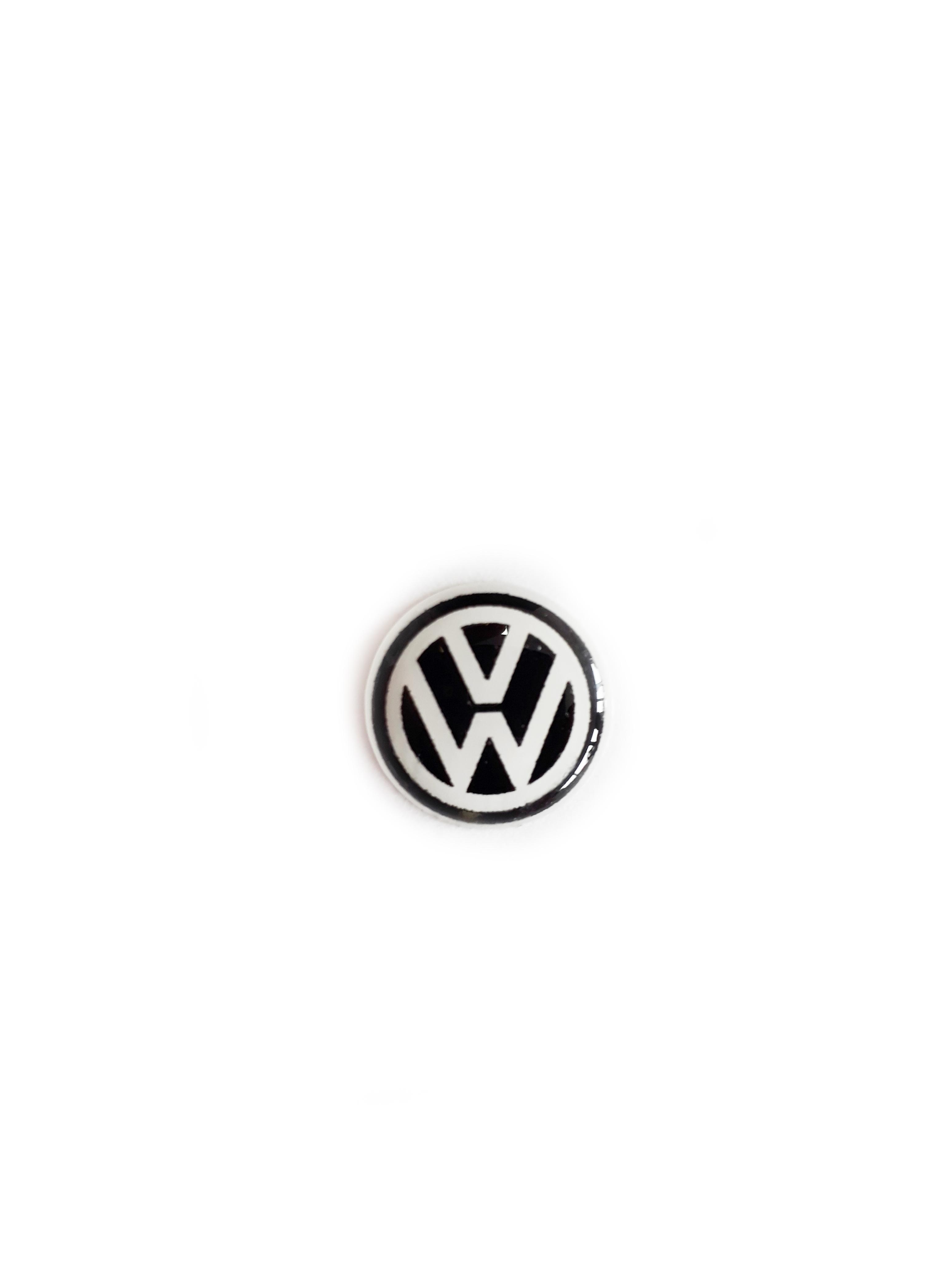 Anahtar Logosu 12mm - Volkswagen Siyah